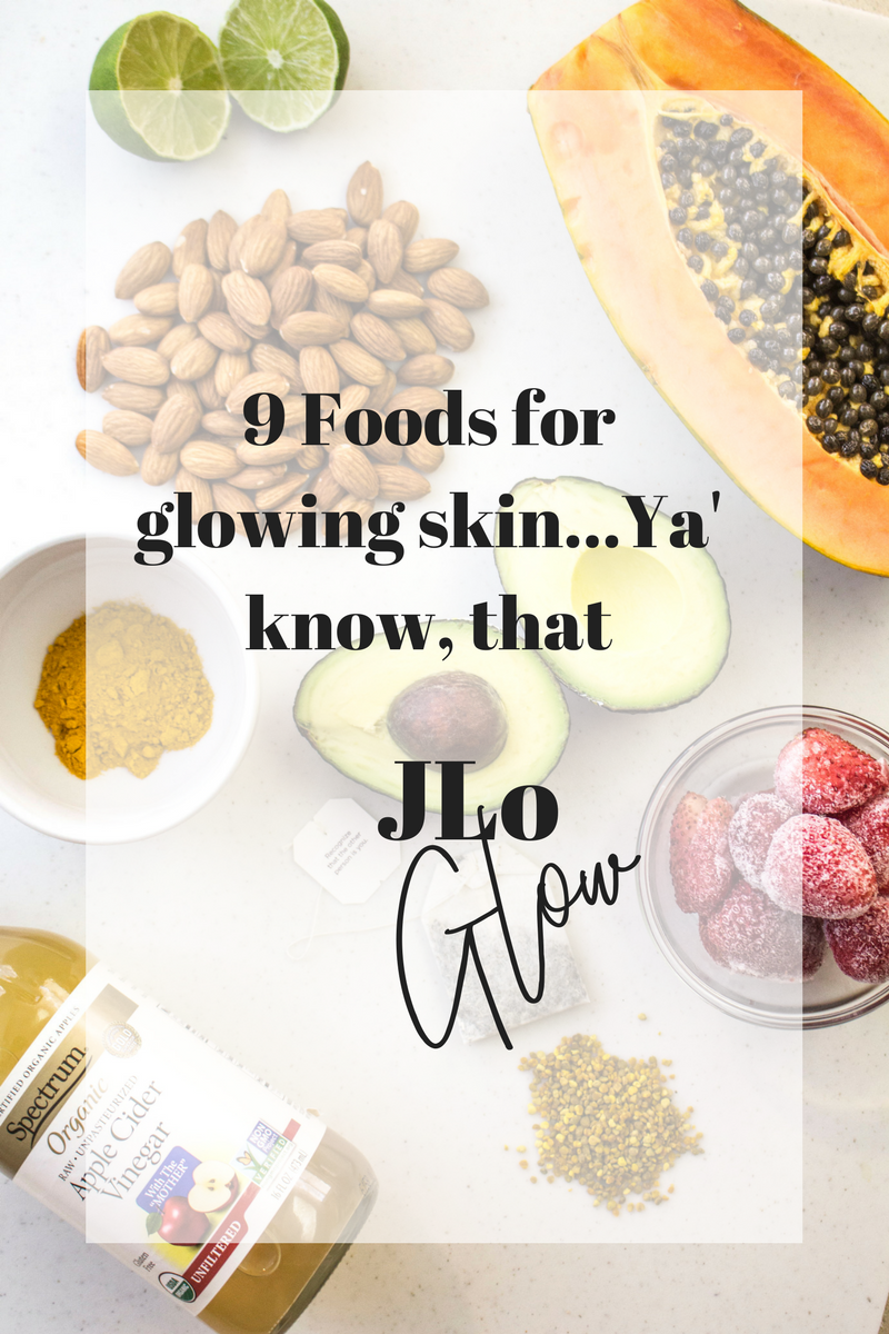 Jlo's skin is legendary, her glow has sparked thousands of articles... but everything starts with the food she eats! Here I share my fav 9 foods for that awesome JLo glow!