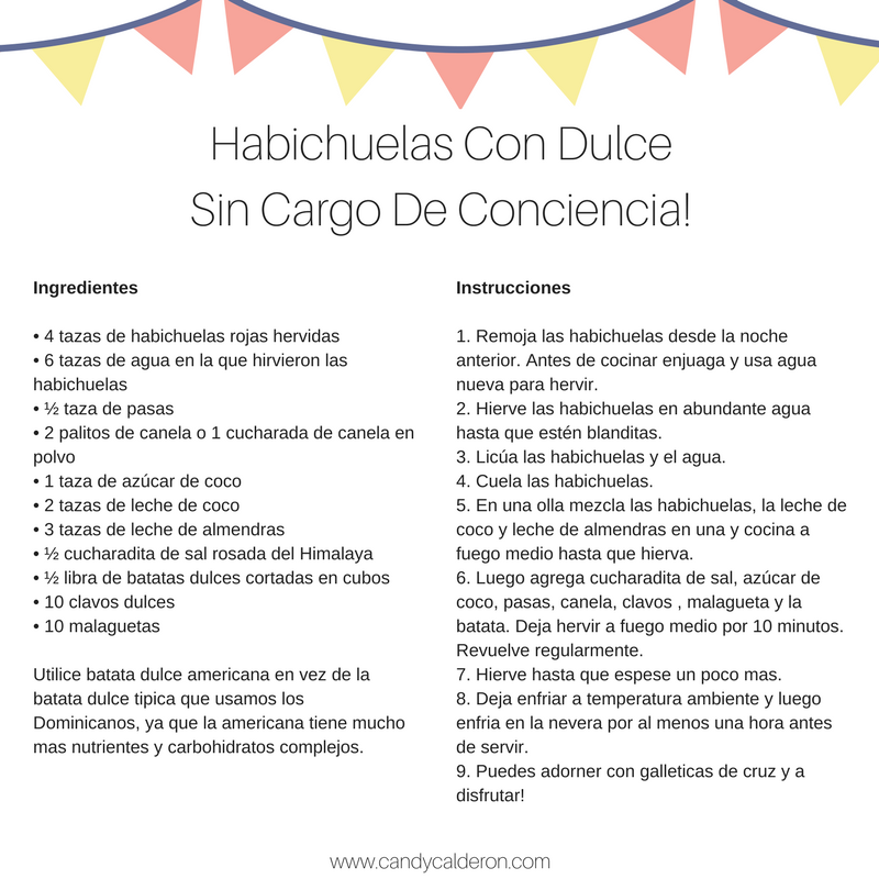 "Crazy about #HabichuelasConDulce? I got you! This dessert is very typical of lent season in the Dominican Republic... I made it ""healthier"" & sugar-free because Semana Santa without habichuelas is not the same!"