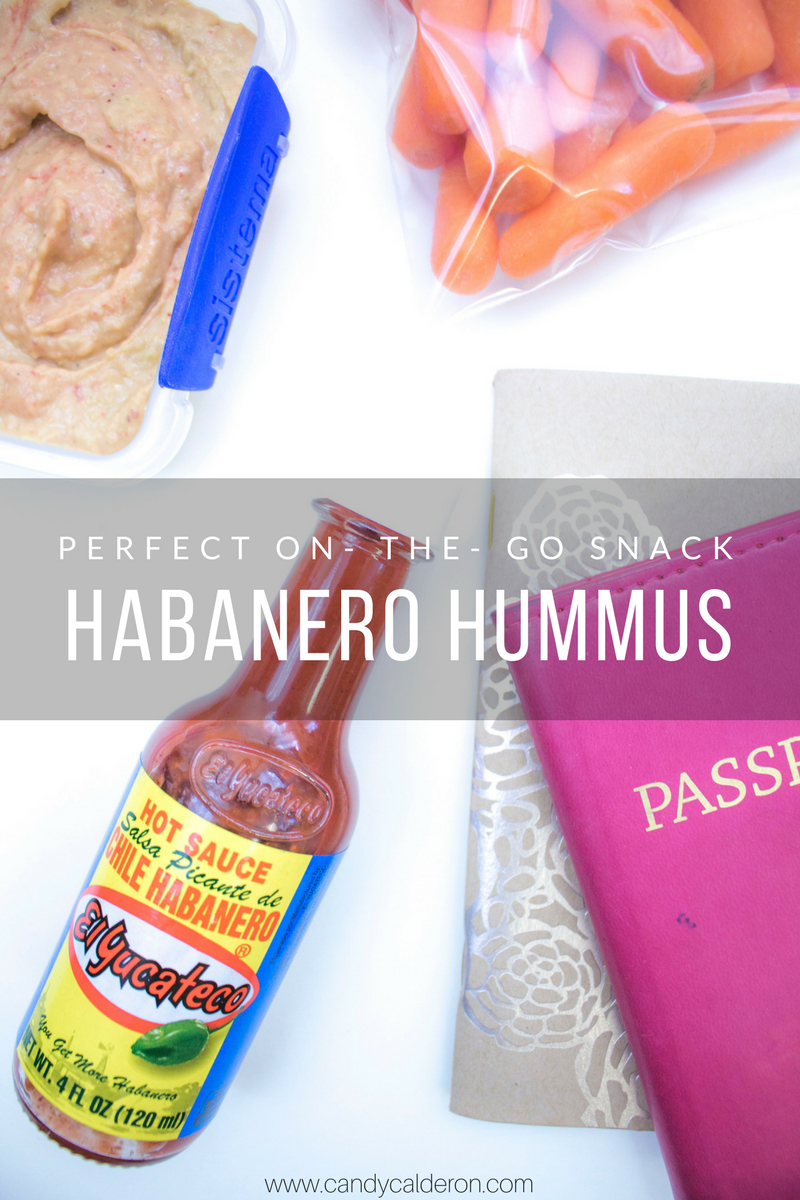"""Snacks in my purse are a MUST when I'm on- the- go. I get """"hangry"""" guys, so this habanero hummus is the perfect snack with a kick + carrot sticks for fiber! #KingofFlavor #FlavorRocksPX #ad"""