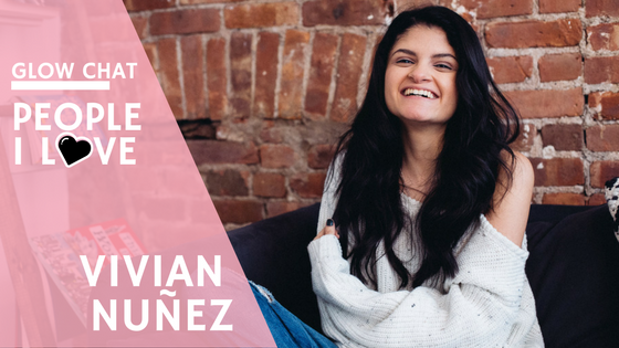 Come along as I chat with Vivian Nunez for my Glow Chat series. She's an amazing Latina and the force behind Creating Espacios podcast & Too Damn Young!