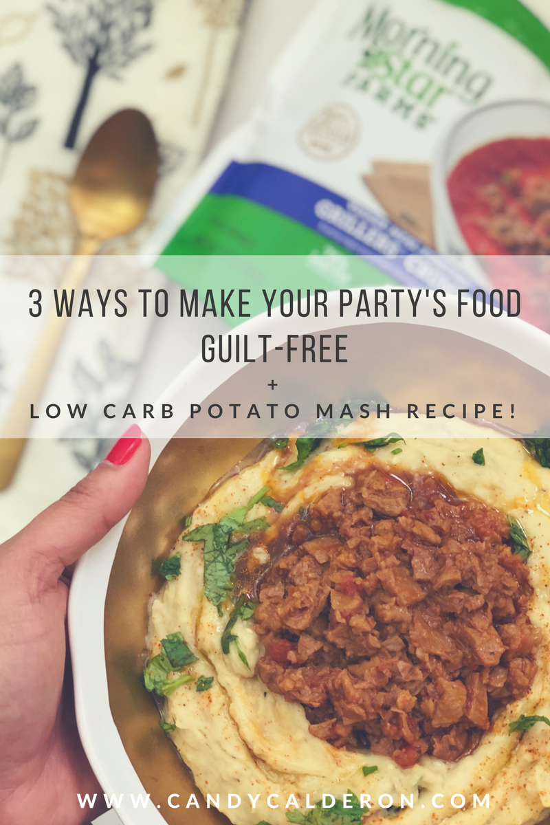 Holiday food doesn't have to be boring in order for you to stay guilt-free... everything is about better options! I got you covered with these tips + yummy low carb - high protein potato mash recipe!