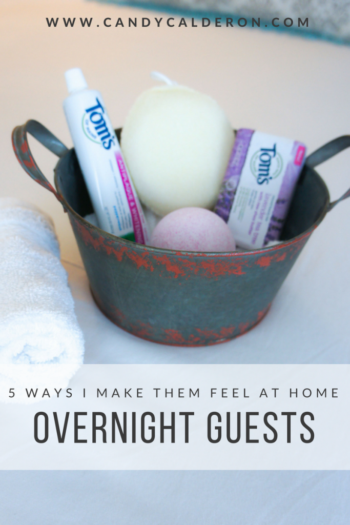 I love to make my overnight guests feel at home, relaxed and welcome when they visit. Here are my fav 5 ways I make that happen!
