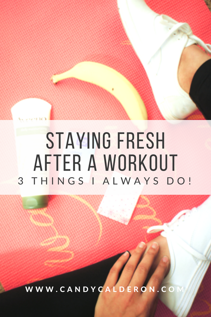 I don't always have time to take a shower after I hit the gym! So these are the 3 things I usually do to freshen up when I have to keep going!