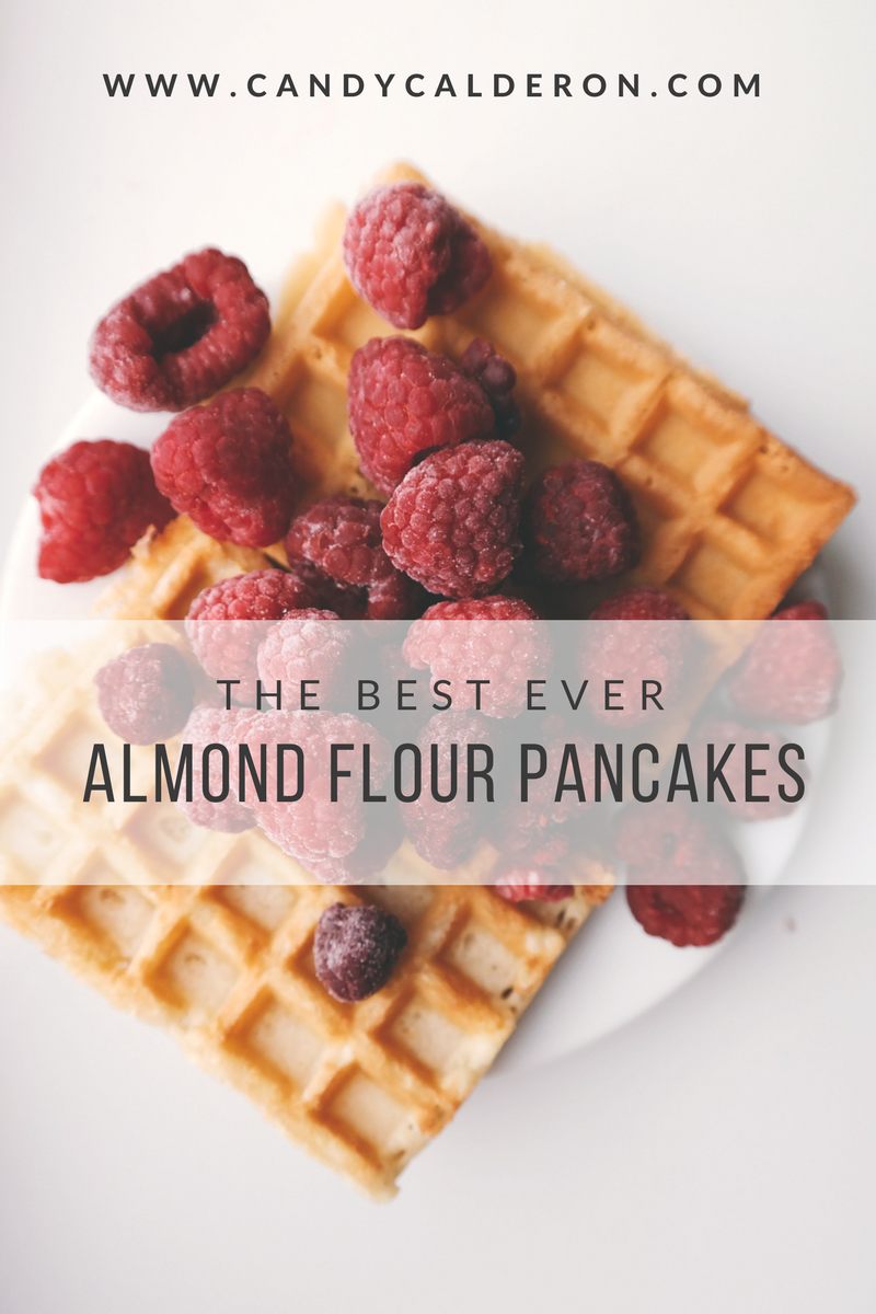 These almond flour pancakes are SO YUMMY, you won't even notices they are indeed healthy! Even if you are gluten-free, this are totally approved + Sugar free!