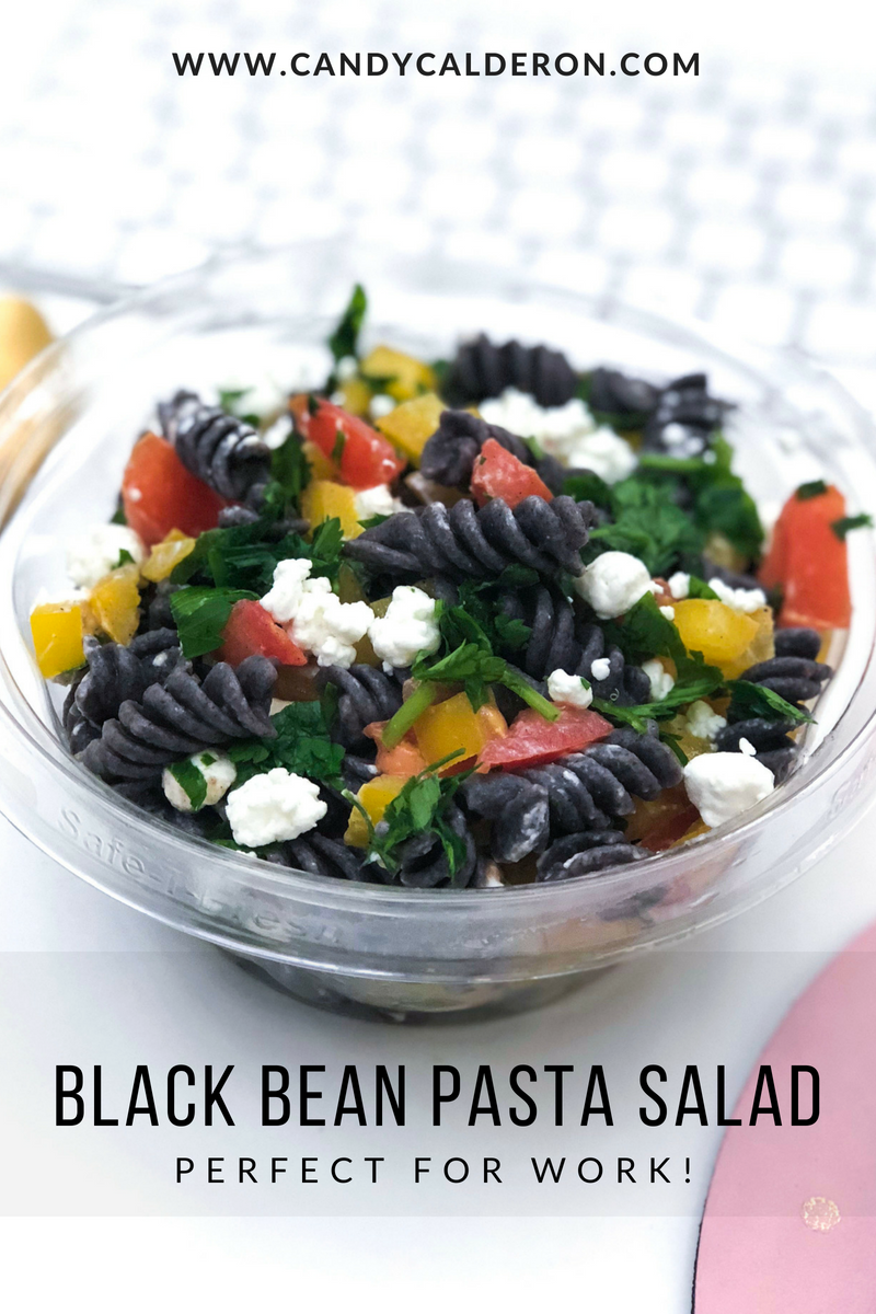 I love this This Black Bean Pasta Salad, it packs 14g of protein per each 3/4 cup (just pasta alone) + it has only one ingredient (black bean flour). Perfect meatless meal, and so easy to make!