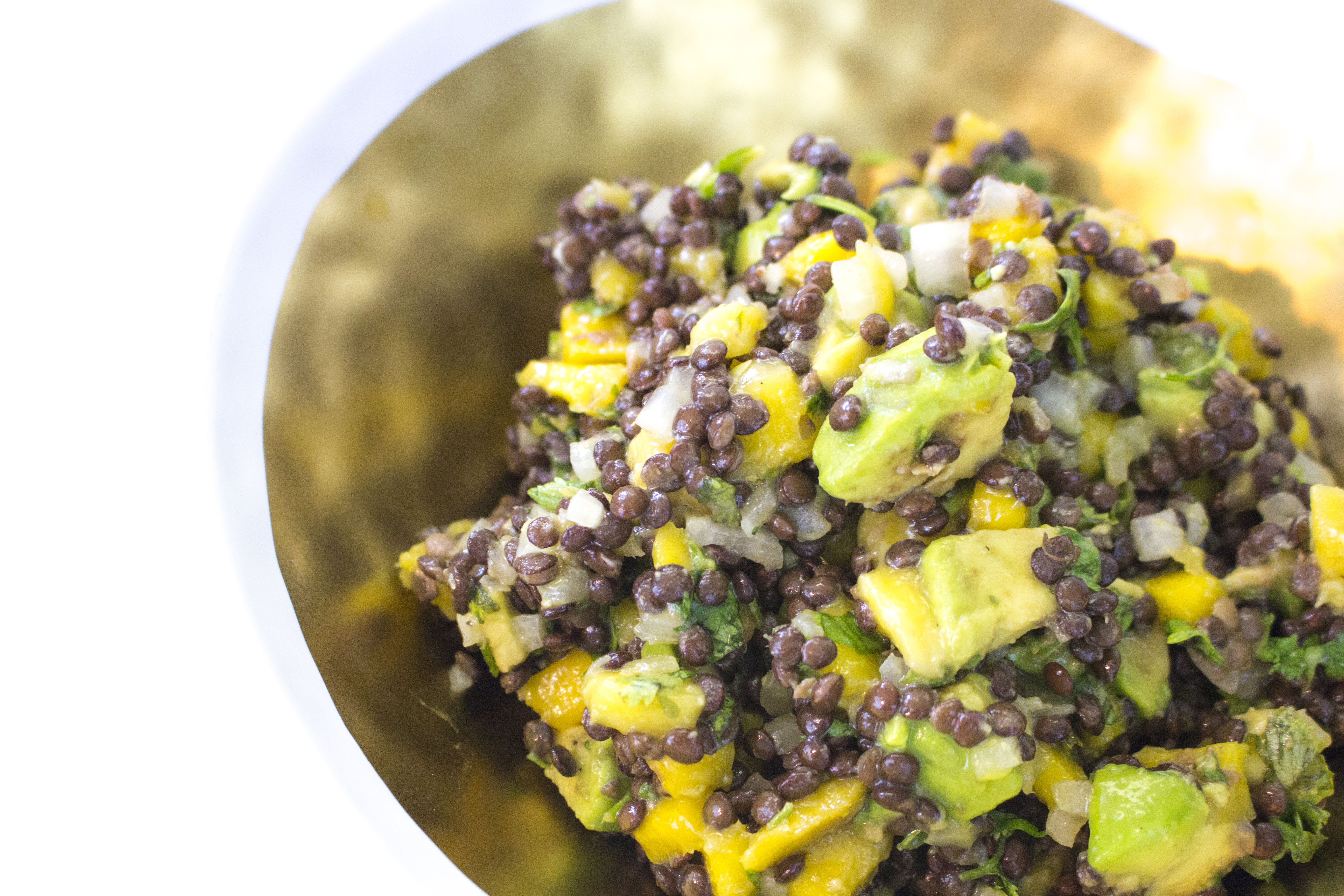 This Mango & Avocado Lentil Salad is one of my favs! Perfect for a meatless meal that is full of fiber and protein.... so yummy and fresh!