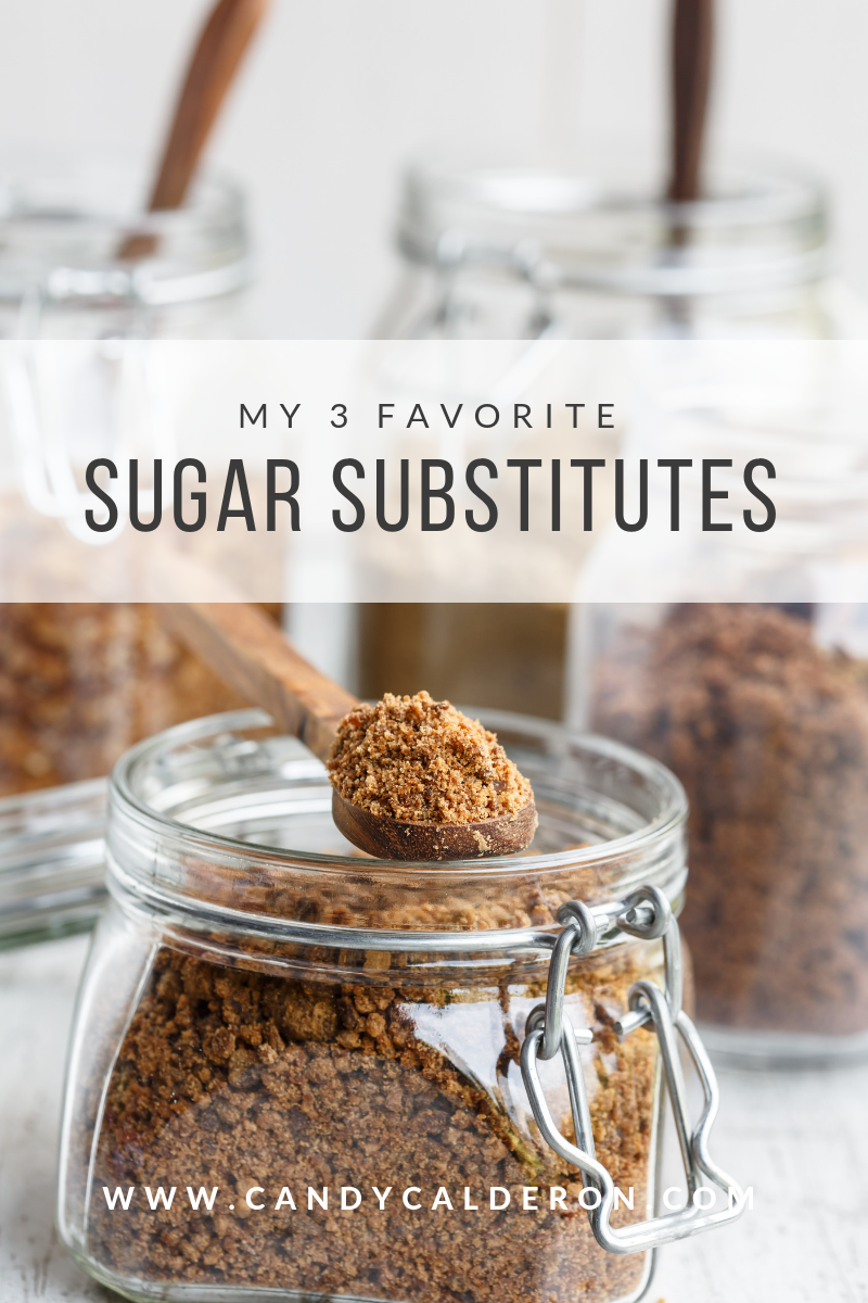 Sugar, is one of the most damaging substances that you can ingest... so I wanted to give you OPTIONS. Here I'm sharing my 3 favorite sugar substitutes!