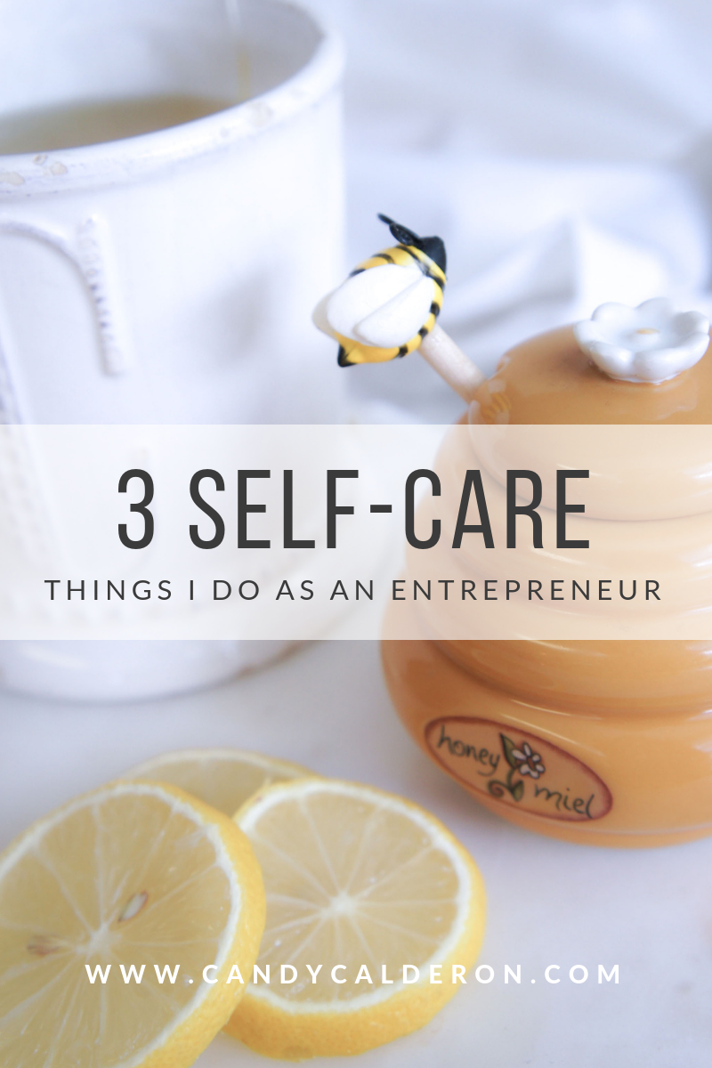 Being an entrepreneur always on-the-go can be taxing to our health. It's important to establish self-care practices to make sure we don't burn out... Here are my fav 3!
