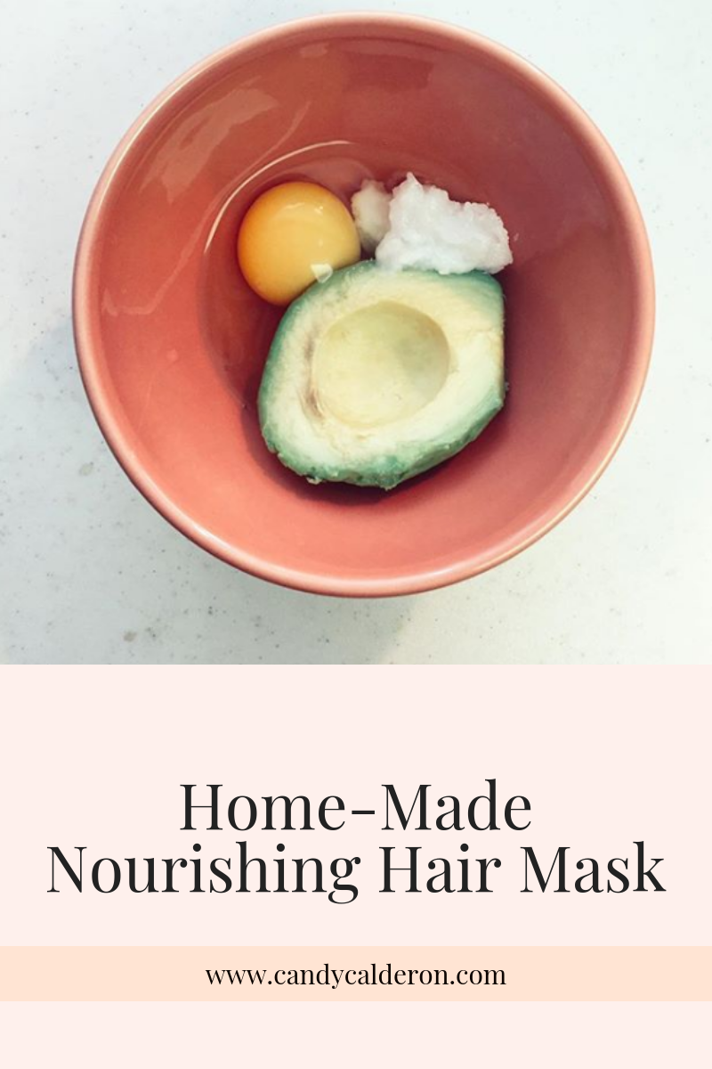 Sweat & water messes with your hair in ways I don't understand! So I made this home-made nourishing mask and LOVE the results. Sharing the recipe with you!