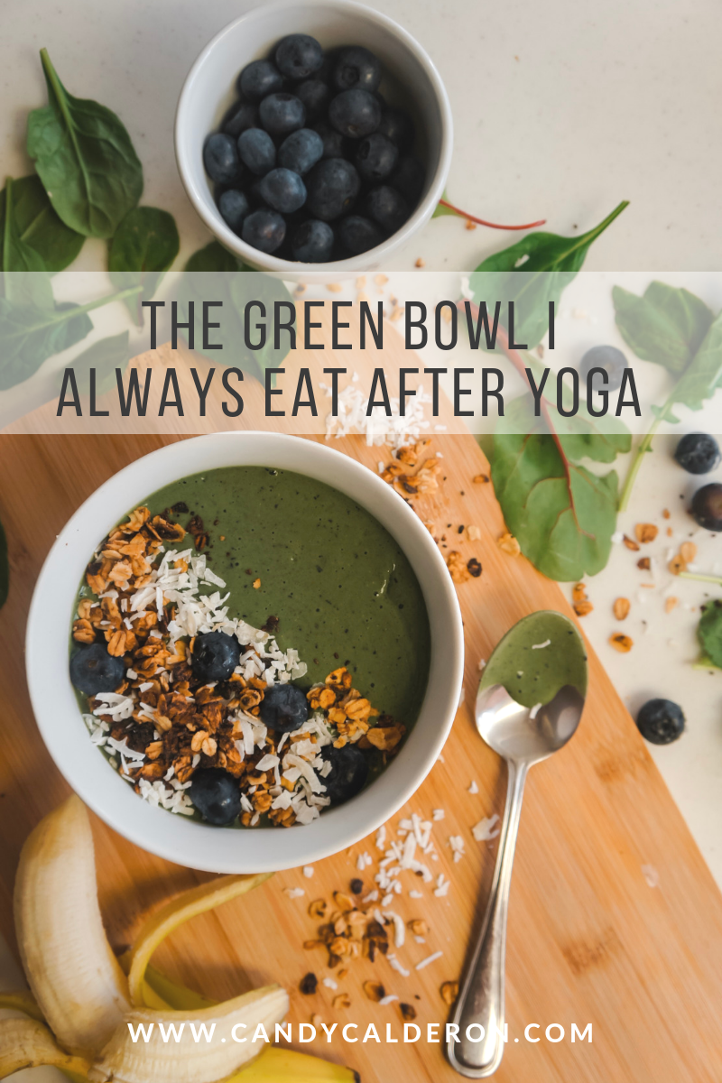 Having this green bowl on rotation, which I love to eat right after my workout. So yummy, nutritious and refreshing... all plant-based ingredients!