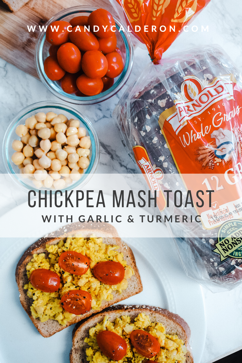 I ran out of avocados and decided to have a chickpea mash toast instead... it was SO DELISH! So wanted to share this super easy recipe with you. Enjoy!